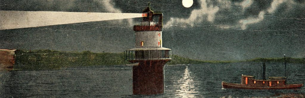 Spring Point Ledge Lighthouse Histic Postcard