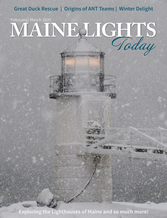 Cover image of the March issue of Maine Lights Today Magazine