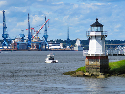 Bath Iron Works and Doubling Point Light