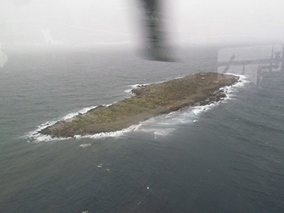Aerial view of Matinicus Rock