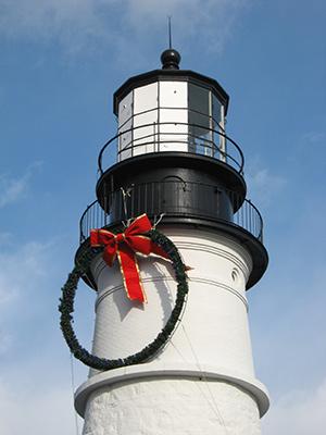 Christmas wreath at Portland Head