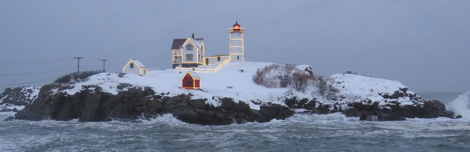Nubble Light…Like no other Lighthouse at Christmastime